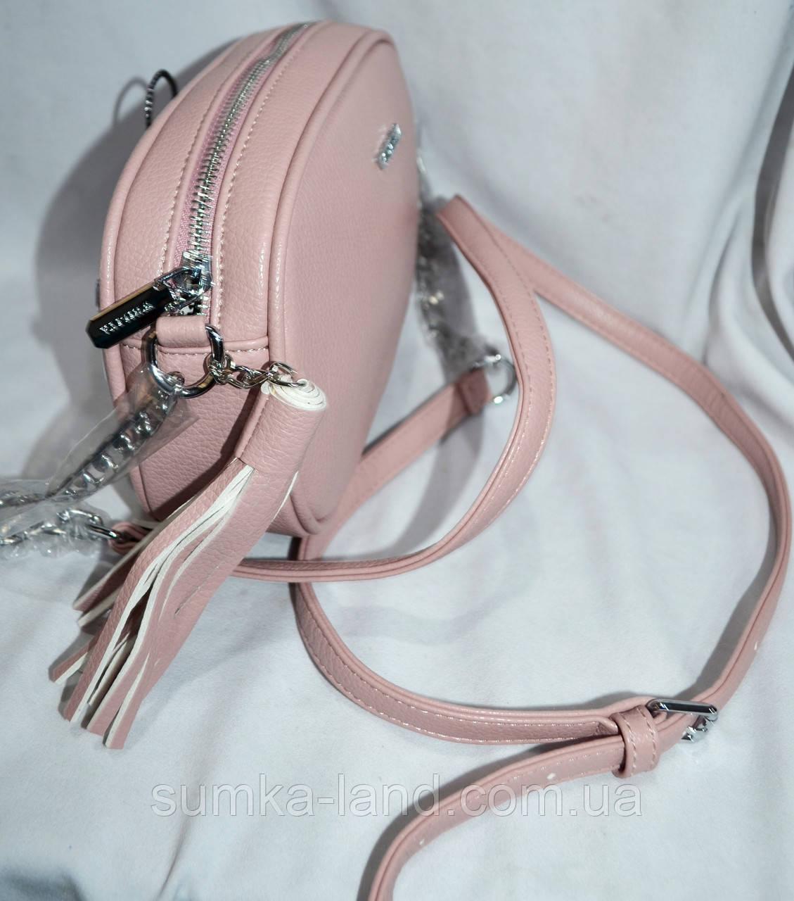 35d812ac79f4 ... Женский овальный клатч с кисточкой на ремешке 22*15 см серый, фото 3