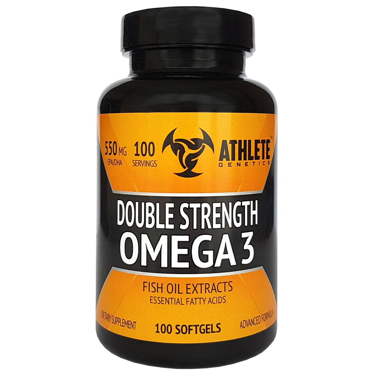 Рыбий жир Athlete Genetics Double Strength Omega 3 100 caps
