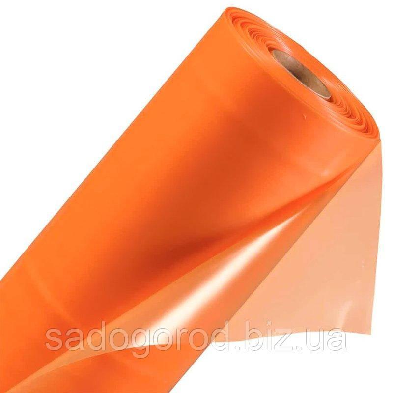 Пленка тепличная стабилизированная оранжевая 24 месяца, 6 м х 50 м, рукав 3 м, толщина 80 мк, 21 кг