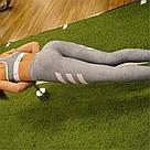 Мини Брак! Лосины для фитнеса леггинсы для спорта светло Серые №16 (M), фото 3