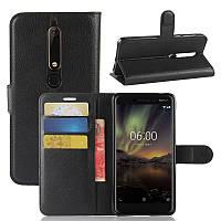 Чехол-книжка Litchie Wallet для Nokia 6 2018 / Nokia 6.1 Черный