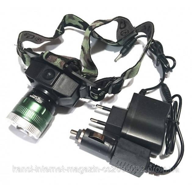 Налобний ліхтарик Bailong Police BL 6902-2, ліхтарик з UF діодом, УФ ліхтар налобний,тактичний Ліхтарик