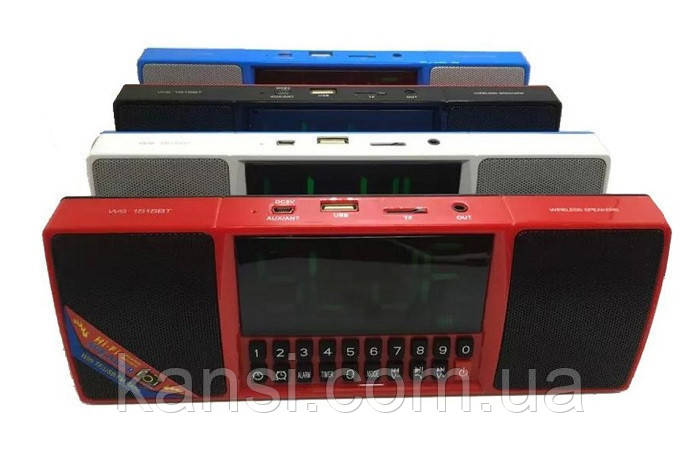 Портативная Bluetooth колонка MP3 часы WS-1515, bluetooth Black