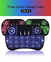 Клавіатура міні wireless KEYBOARD MWK08/i8 LED touch з підсвічуванням, що світиться міні-клавіатура