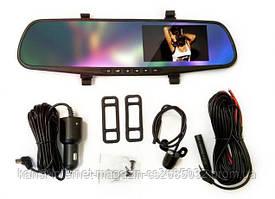 Автомобильный видеорегистратор зеркало 1388EH на 2 камеры,зеркало заднего вида с видео-регистратором DVR
