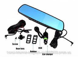 Автомобильный видеорегистратор зеркало 1433 на 2 камеры,зеркало заднего вида с видео-регистратором DVR