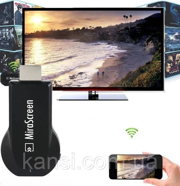 Медиаплеер Miracast AnyCast M2 Plus HDMI с встроенным Wi-Fi модулем, приёмник HDMI