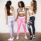 Лосины для фитнеса леггинсы для спорта Розовые Aimn №22 (M), фото 7