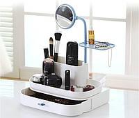 Настольный органайзер для косметики с зеркалом 7009 dresscase with mirrow , органайзер косметичка, фото 1