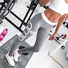 Лосины для фитнеса леггинсы для спорта Серые Aimn №23 (M), фото 5