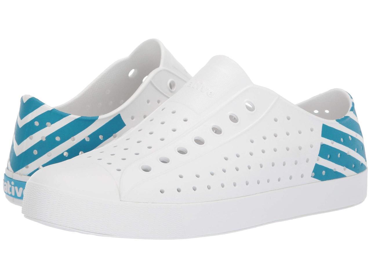 60005f4279a6 Кроссовки/Кеды (Оригинал) Native Shoes Jefferson Shell White/Shell  White/Ultra Blue Glow Block