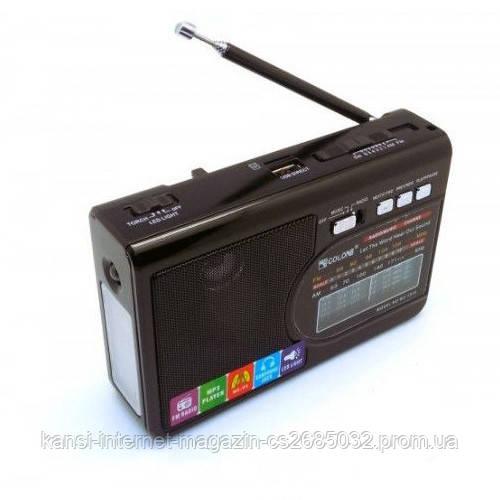 Портативный радиоприёмник колонка Golon RX-1314, USB приемник портативная колонка, FM радио,