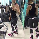Лосины розово-серые для фитнеса №25 — Размеры  S M L, фото 8