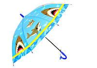 Зонт детский трость со свистком Акула 13710-1311