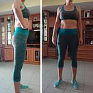 Лосины для фитнеса леггинсы для спорта серые голубые №27b (S), фото 6