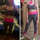 Лосины для фитнеса леггинсы для спорта серые розовые №27p (Размер: L), фото 2