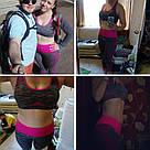 Лосины для фитнеса леггинсы для спорта серые розовые №27p (Размер: L), фото 9
