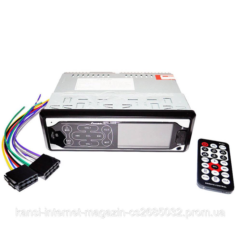 Автомагнітола MP3 3884 ISO, 1DIN сенсорний дисплей, Автомобільна магнітола, Універсальна магнітола в авто