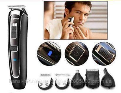 Триммер для стрижки волос GEMEI GM-801, мультитриммер аккумуляторный