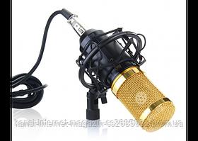 Микрофон студийный DM 800, Профессиональный конденсаторный микрофон, микрофон для видео и стримов, студийный