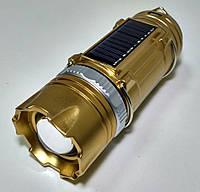 Кемпинговая LED лампа SB-9688 фонарик с солнечной панелью,фонарик переносной