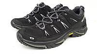 Мужские кожаные черные кроссовки Salomon 40, 41, 42, 43, 44, 45