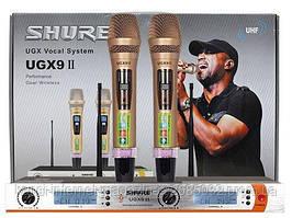 Микрофон DM UG-X9 II Shure, радиосистема с микрофонами, радиомикрофоны с базой, для караоке