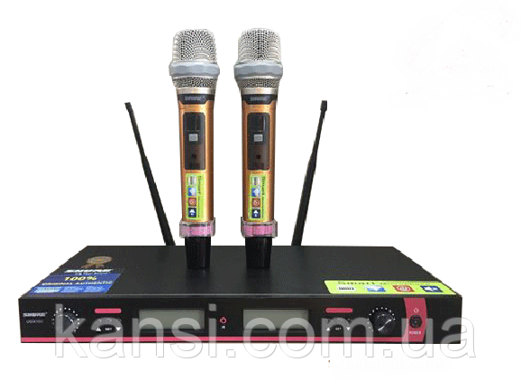 Микрофон DM UG-X10 II Shure, радиосистема с микрофонами, радиомикрофоны с базой, микрофон 2 шт + База