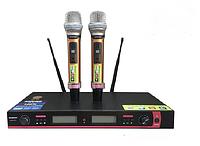 Микрофон DM UG-X10 II Shure, радиосистема с микрофонами, радиомикрофоны с базой, микрофон 2 шт + База, фото 1