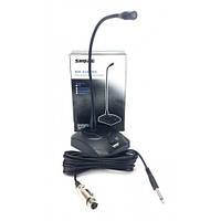 Микрофон для конференций Shure MX418, микрофон на гибком держателе, радиомикрофон настольный для конференции