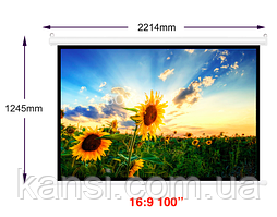 Екран для проектора 100 іпсполотно для проектора, проекційний екран