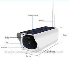Акумуляторна IP камера відеоспостереження CAD F20 2 mp камера з сонячною панеллю