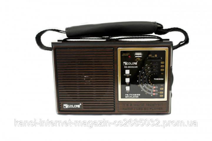 Радиоприемник Golon RX-9933, USB приемник, портативная колонка, FM радио