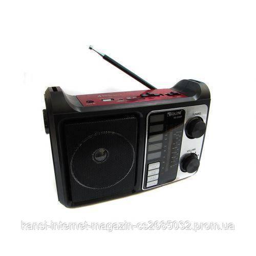 Портативна колонка радіо MP3 USB Golon RX-333 bluetooth, Led Радіо