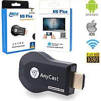 Медиаплеер Miracast AnyCast M9 Plus HDMI с встроенным Wi-Fi модулем, приёмник HDMI