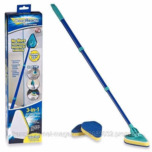 Швабра щітка універсальна 3 в 1 Clean Reach, чистяча швабра-щітка