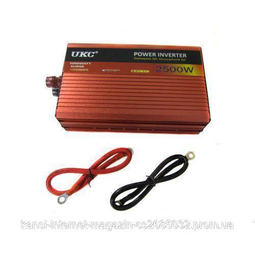 Преобразователь напряжения инвертор AC/DC AR 2500W 24V, автомобильный инвертор