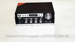 Усилитель звука UKC SN-555BT с радио и Bluetooth, усилитель  FM USB Блютуз + Караоке усилитель