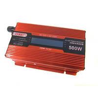 Преобразователь UKC авто инвертор 12V-220V 500W LCD KC-500D, автомобильный инвертор с лсд экраном, фото 1