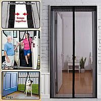 Антимоскитная дверная штора Magic Mash 210*100, москитная сетка занавеска, антимоскитная штора на дверь, фото 1