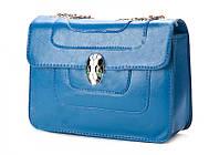 Стильный женский синий клатч - Bulgari