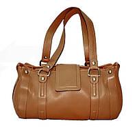 Женская сумка из высококачественной натуральной кожи кемел Lloyd L315.06 (Германия)