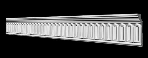 Потолочный плинтус 2м   GP-74   64х28 mm для натяжных потолков