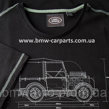 Мужская футболка Land Rover Men's Hue Graphic T-Shirt, Black, фото 3