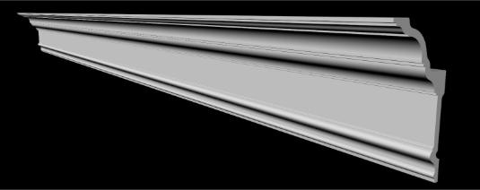 Потолочный плинтус 2м   GP-79   117х93 mm для натяжных потолков