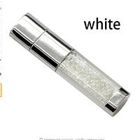 Ювелирная флешка с кристаллами белая Flash Memorystick 16гб, фото 1