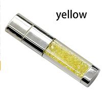 Ювелирная флешка с кристаллами желтая Flash Memorystick 16гб, фото 1