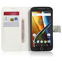 Чехол-книжка Litchie Wallet для Motorola Moto G4 XT1622 / Moto G4 Plus XT1642 Белый
