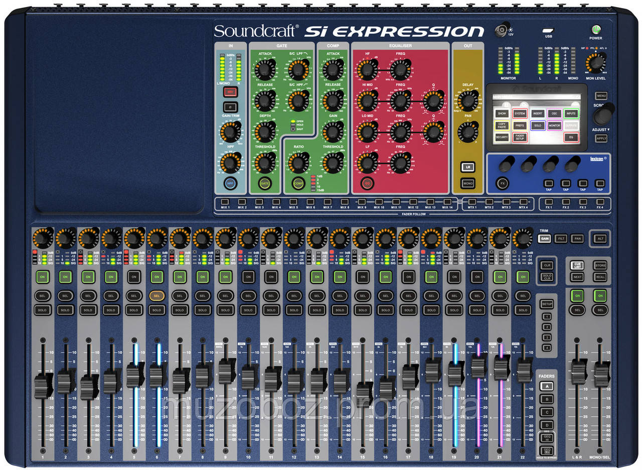 Soundcraft Si Expression 2 цифровой микшерный пульт, 24 моно + 4 стерео канала