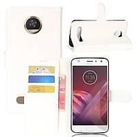 Чехол-книжка Litchie Wallet для Motorola Moto Z2 Play XT1710 Белый